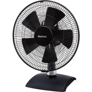 Holmes Black 12-inch Blade Span Desk Fan