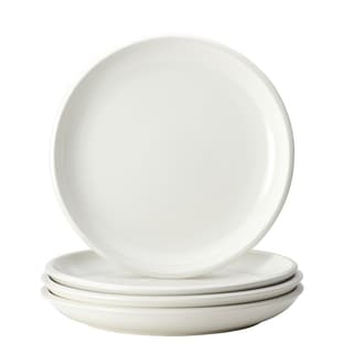 Rachael Ray Dinnerware Rise White 4-piece Stoneware Dinner Plate Set