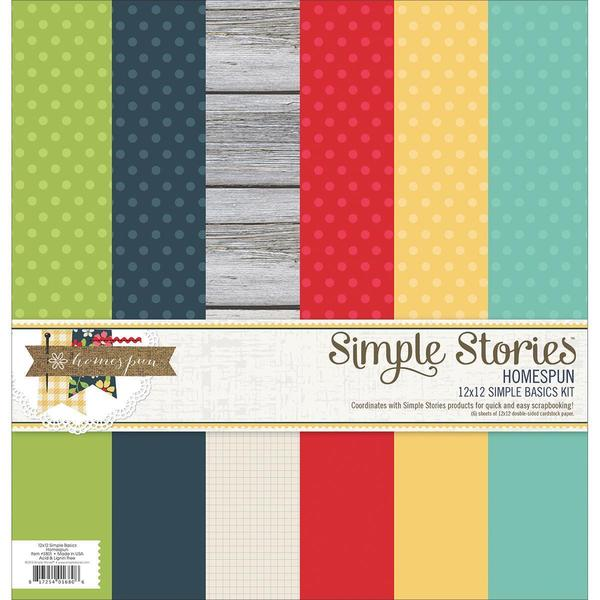 Homespun Simple Basics Paper Kit 12 X12 6/Sheets -