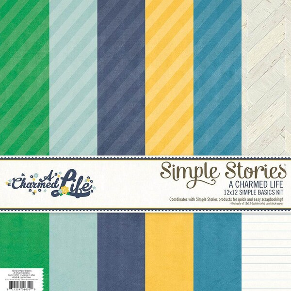 A Charmed Life Simple Basics Paper Kit 12 X12 6/Sheets -