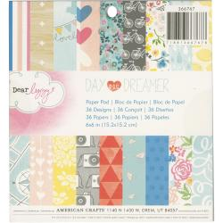 Dear Lizzy Daydreamer Paper Pad 6 x6 36/Sheets - Single-Sided