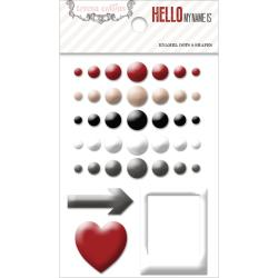 Hello My Name Is Self-Adhesive Enamel Dots & Shapes 38/Pkg -