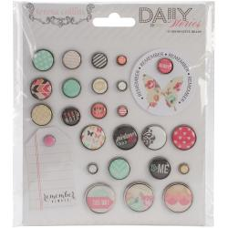 Daily Stories Decorative Brads 25/Pkg -