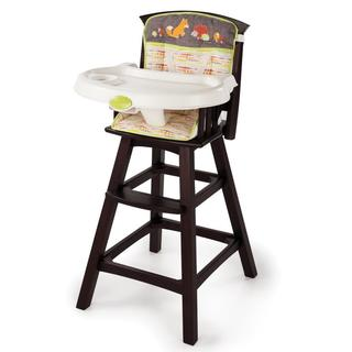Summer Infant Classic Comfort Wood High Chair in Fox and Friends