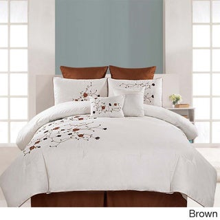 Embroidered 8-piece Belmont Cotton Comforter Set
