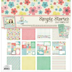 Simple Sets Spring Collection Kit 12 X12 - (6) 12 X12 Papers & (2) 6 X12 Stickers