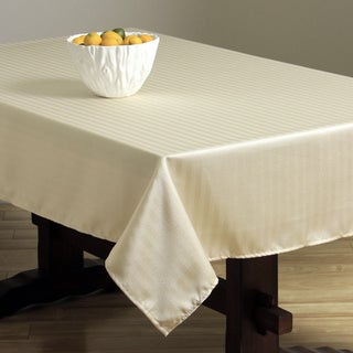 Rosedale Spill-proof Cream Stripe Tablecloth
