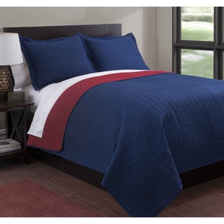 Baltic Solid Reversible 3-piece Quilt Set