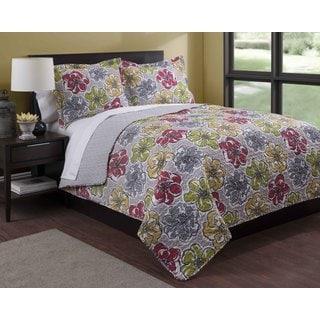 Floral Fantasy 3-piece Quilt Set