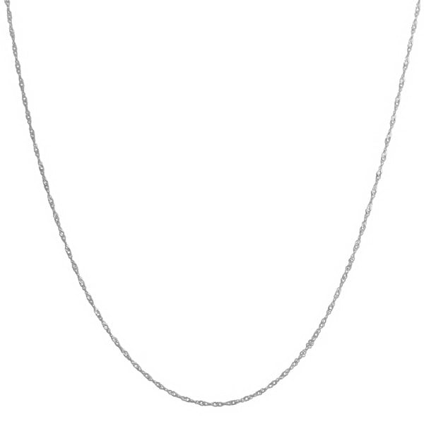Fremada 14k White Gold Singapore Chain Necklace (18 inch)