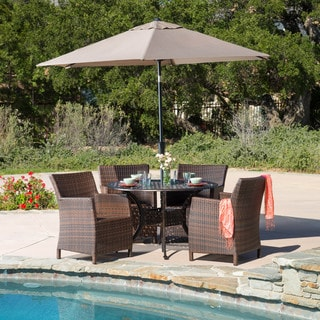 Christopher Knight Home Dawn Circular Outdoor Cast and Wicker 5-piece Set