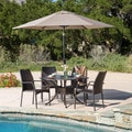 Christopher Knight Home Libson Circular Outdoor Cast and Wicker 5-piece Set