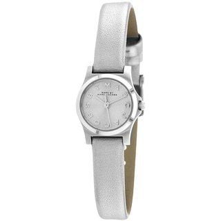 Marc Jacobs Women's MBM1296 Henry Dinky Silver Leather Strap Watch