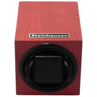 Steinhausen 12-mode Single Red Wood Grain Watch Winder