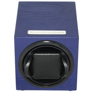 Steinhausen 12-mode Single Blue Wood Grain Watch Winder