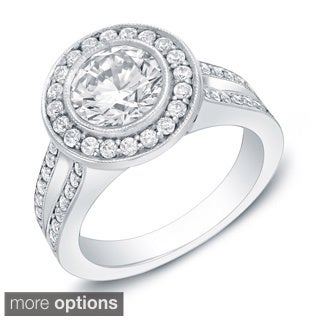 2ct TDW Certified Princess Cut Diamond Engagement Ring (H-I, SI1-SI2