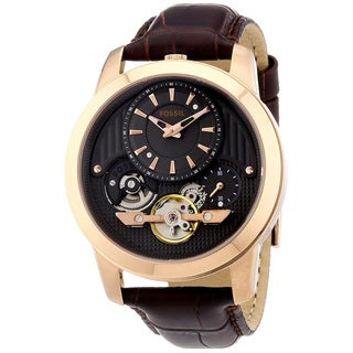 Fossil Men's ME1114 Twist Brown Leather Watch