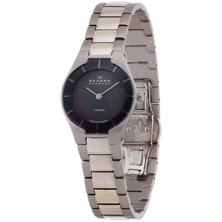 Skagen Women's 585XSTXM Swiss Collection Gray Titanium Watch