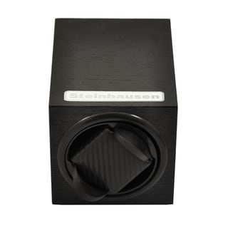 Steinhausen 12-mode Single Black Wood Grain Watch Winder