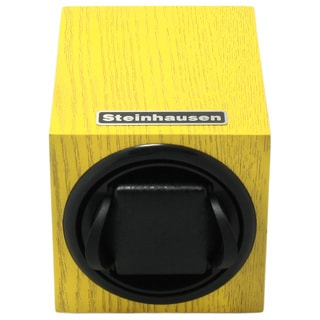 Steinhausen 12-mode Single Yellow Wood Grain Watch Winder