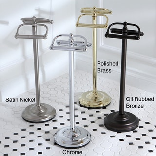 Vintage Dual Freestanding Pedestal Toilet Tissue Holder