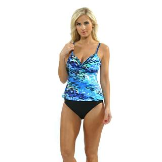 Miraclesuit Women's 'Roswell' Blue Tankini Top with High Waist Bottoms