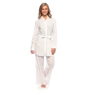 Tommy Bahama Women's 'Dots Adrift' White Cotton Cover-up Set