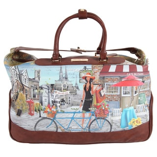 Nicole Lee 'Teresa' Rolling Duffel with Laptop Compartment Special Print Edition
