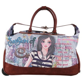 Nicole Lee 'Teresa' Rolling Duffel Special Fashion Print Edition
