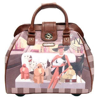 Nicole Lee Cheri Faux Leather Rolling Business Special Print Edition Tote