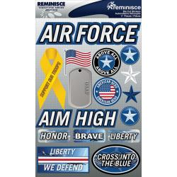Signature Dimensional Stickers 4.5 X6 Sheet - Air Force