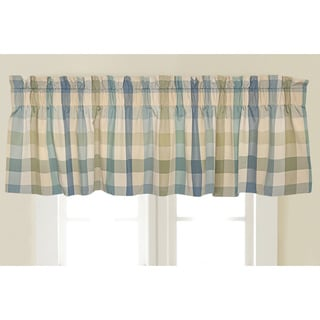 Rose Tree Flora Plaid Window Valance