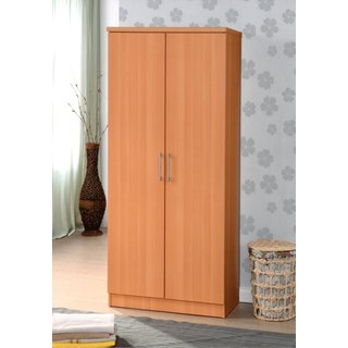Two Door Wardrobe with Shelves