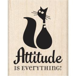 Inkadinkado Mounted Rubber Stamp 2 X2.5 - Attitude Is Everything