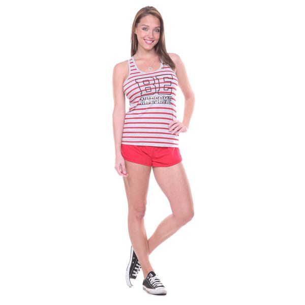 Stanzino Women's 'Be Awesome' 2-piece Tank and Shorts Pajama Set