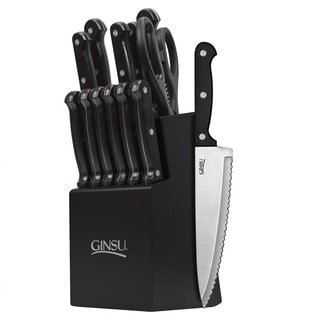 Ginsu Essentials Series 14-piece Black/ Black Cutlery Set