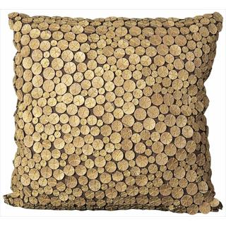 Mina Victory Coconut Button 20 x 20 Throw Pillow