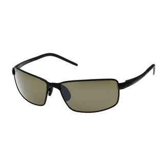 Serengeti Men's 'Lizzano' Satin Black Fashion Sunglasses