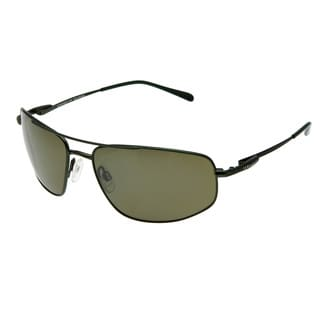 Serengeti Men's 'Levanto' Satin Racing Green Polarized Sunglasses