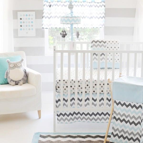 Pam Grace Creations Chevron Elephant  Piece Crib Bedding Set