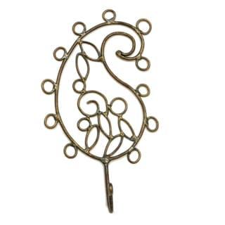 Handmade Wire Paisley Petal Hook (India)