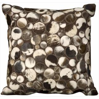 Mina Victory Multi-color Natural Leather and Hide Throw Pillow by Nourison