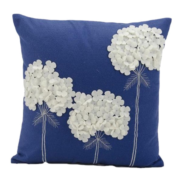Nourison Mina Victory 18-inch Blue Felt Throw Pillow - 16109793 - Overstock.com Shopping - Great ...
