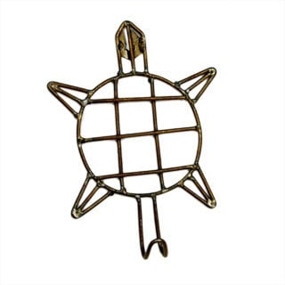 Handmade Metal Turtle Hook (India)