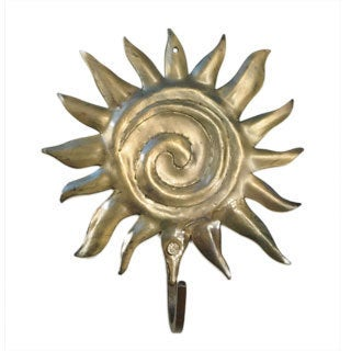 Handmade Metal Sun Hook (India)