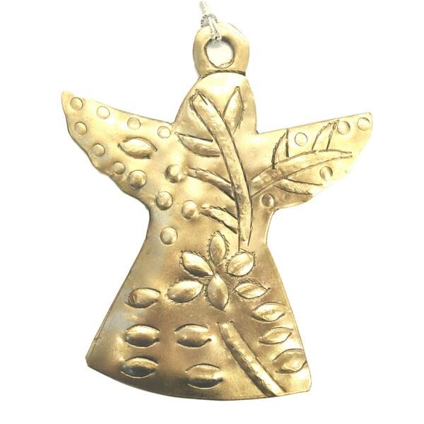 Handmade Deco Angel Metal Ornament (India)