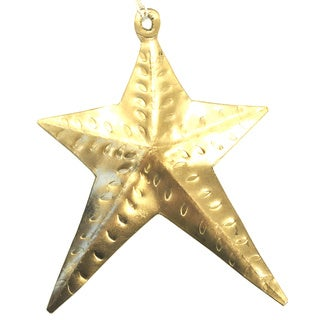 Handmade Metal Star Ornament (India)