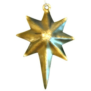 Handmade Extra-large Metal Star Ornament (India)