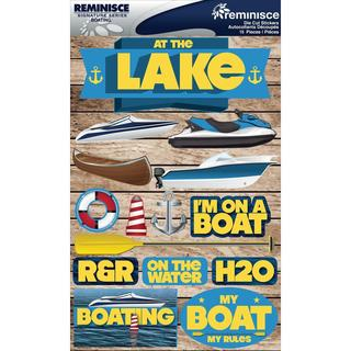 Signature Dimensional Stickers 4.5 X6 Sheet - Boating