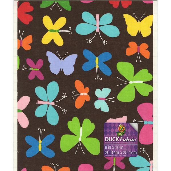 Fabric Sheet 8 X10 - Brown Butterflies